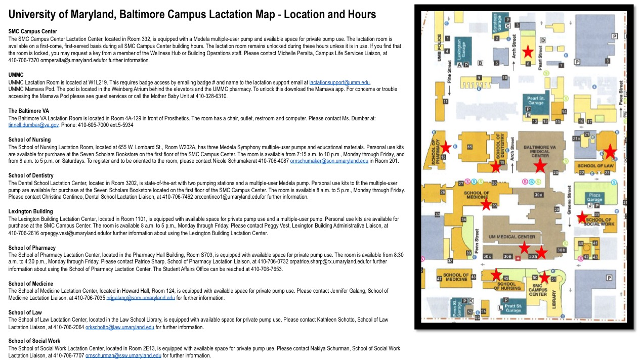 Lactation Map UMB Campus