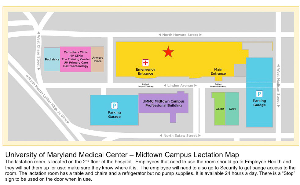 Midtown Lactation Map