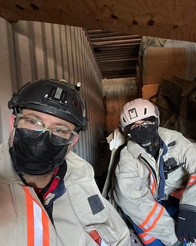CPRNs wearing protective headgear and masks