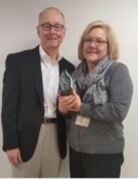 Dr. Eckert with Ms. Kathleen Reinecke (Dr. Eckert's administrative assistant, an invaluable help in this effort).