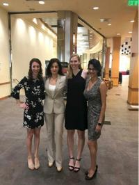 Pictured from left to right (Alyssa Grogan, Dr. Kontrogianni, Janelle Hauserman, and Talia Guardia)