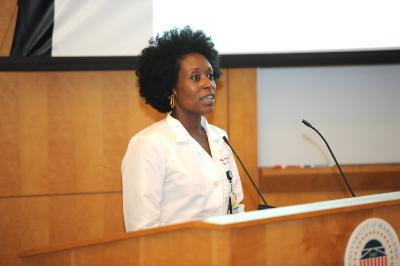 Dr. Nikkita Southall speaks at Primary Care Day.