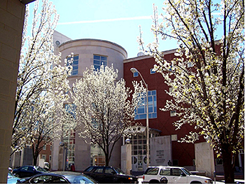 Outside photo of the Health Sciences and Human Services Library