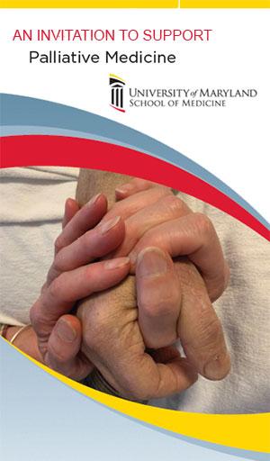 An invitation to support Palliative Medicine Brochure