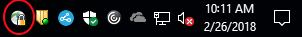 System Tray Connected Icon
