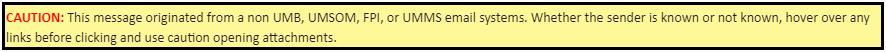 External Email Notification