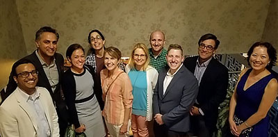 Group photo from graduation dinner