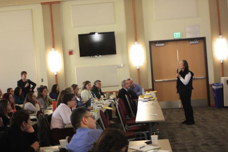 Audience listening to speak presentation