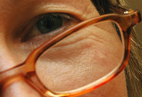 Close up of woman in glasses