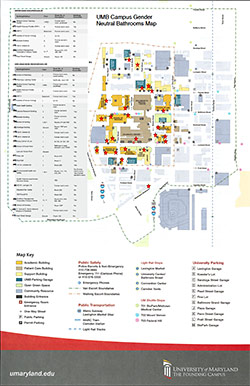 UMB Campus Gender Neutral Bathrooms Map