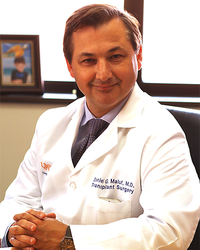 Daniel G Maluf, MD, FAST, Professor, Surgery & Medicine; Director, Program in Transplantation; Interim Chief, Division of Transplant Surgery