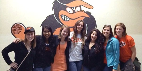 Group of Students at Orioles Game