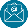 Icon of an envelope and @ sign