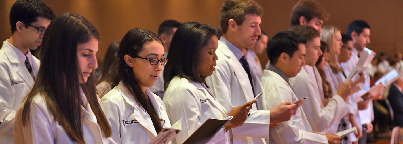 White Coat Ceremony - Students Reciting - 2016
