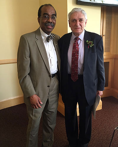 Mordecai Blaustein, MD with Dean E. Albert Reece, MD, PhD, MBA