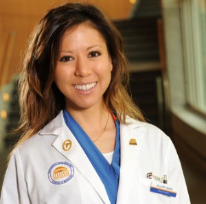 a female medical student