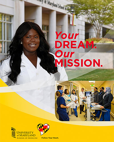 Cover of the UMSOM Admissions Brochure