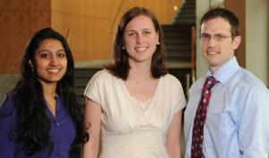 three medical students