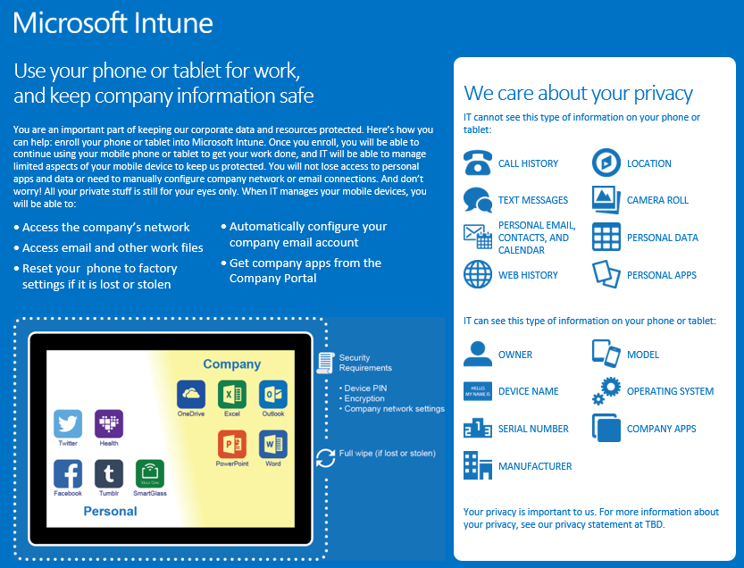 Mobile Device Management (Intune) | University of Maryland School of