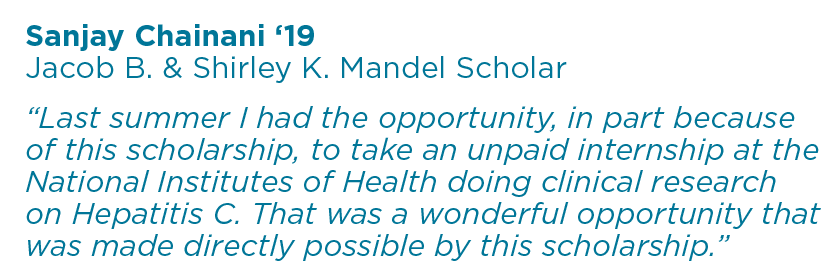 Sanjay Chainani '19 Student Quote