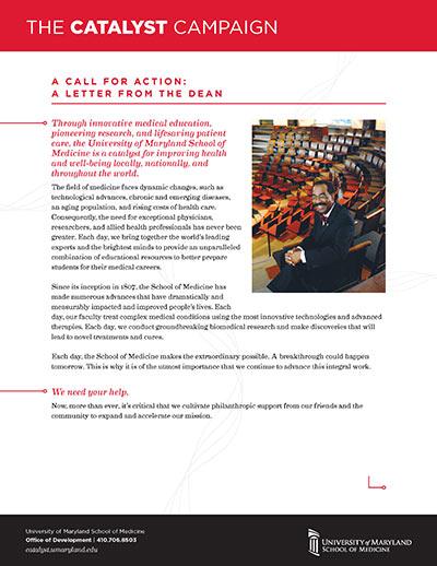 Catalyst Campaign Dean's Letter