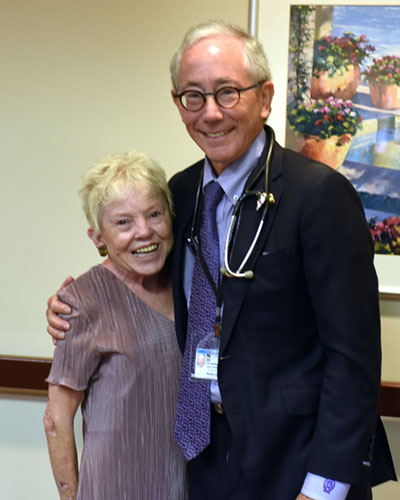Pam Nowell and Dr. Weir