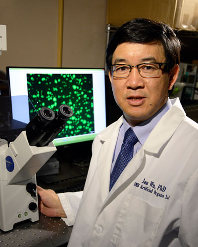 Dr. Wu in his lab