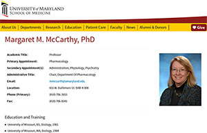 McCarthy Faculty Profile screenshot/thumbnail