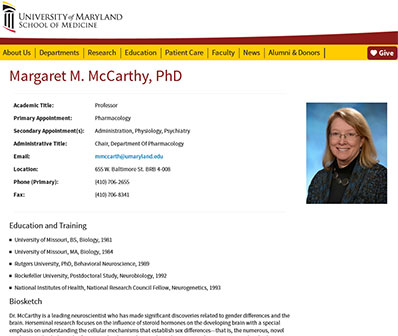 Sample Faculty Profile