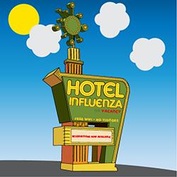 Hotel Influenza sign illustration
