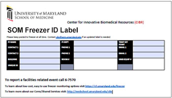 Thumbnail of Freezer ID Label template